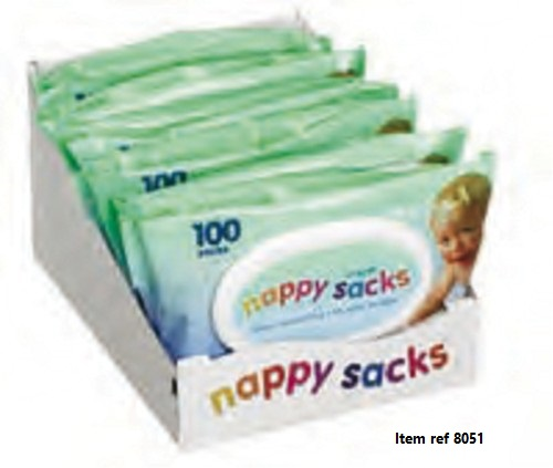 Nappy Sacks (100's X 6)